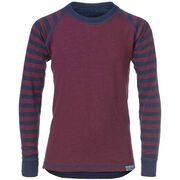 WOOL TOP YOUNG, burgundy/navy, hi-res