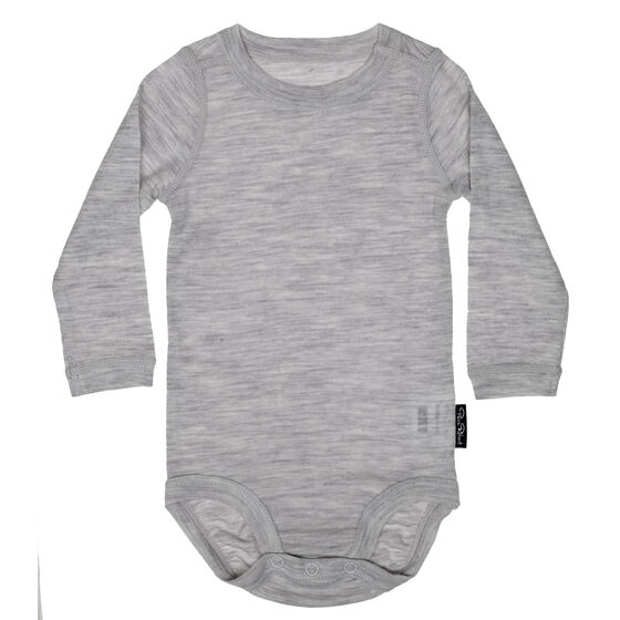Baby Long Sleeve Body Grey Melange 2-17, grey melange 2-17, hi-res