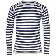 WOOL TOP YOUNG, navy offwhite, hi-res
