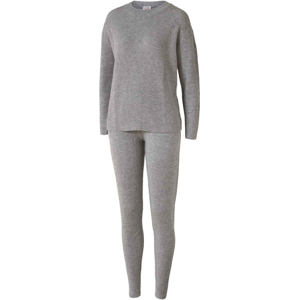 Loungewear genser i 100% merinoull Light Grey, light grey, hi-res