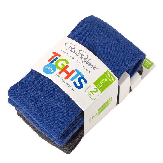 2-pack strumpbyxor bomull mörkgrå/mörkblå, dark blue and dark grey, hi-res
