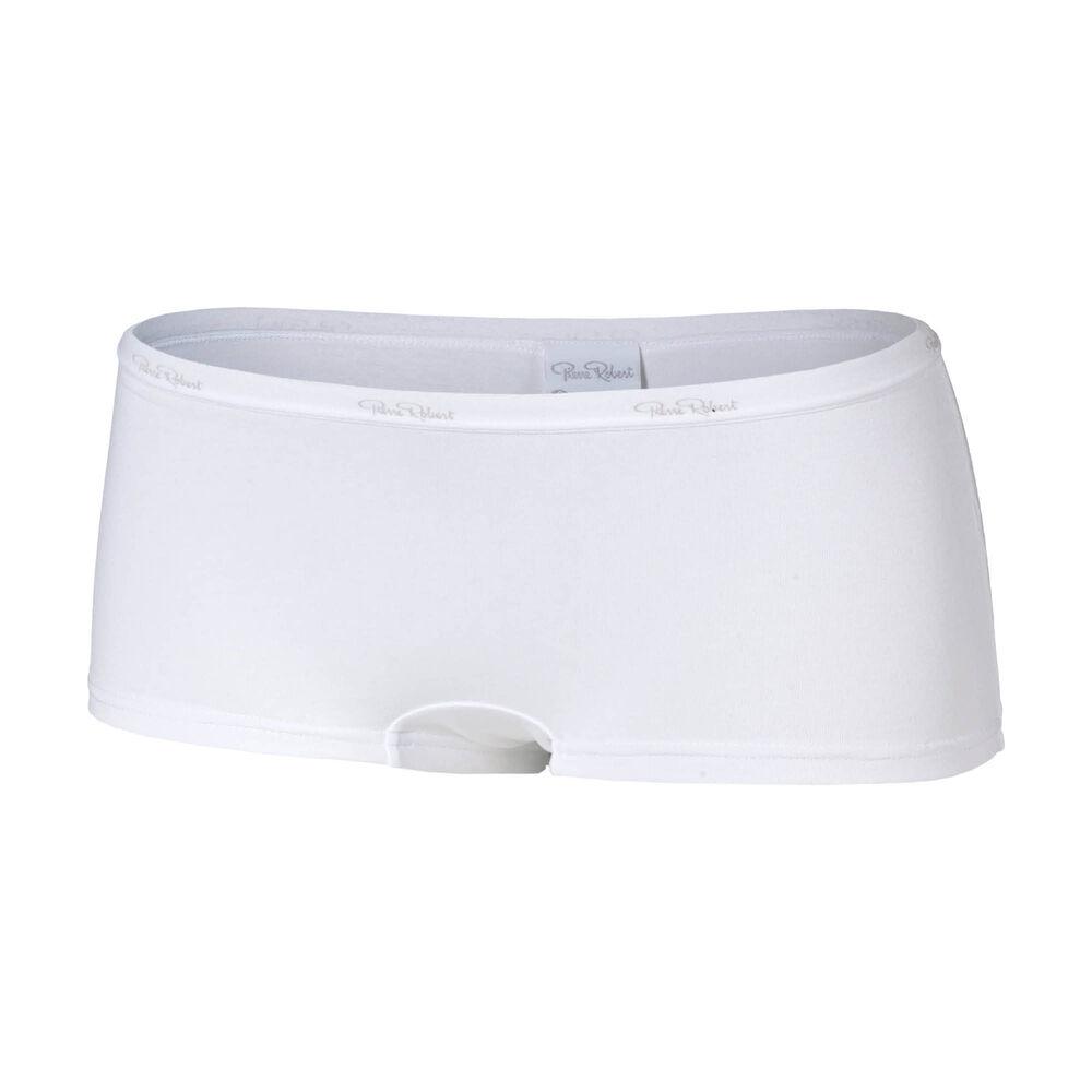 Truse boxer økologisk bomull, white, hi-res