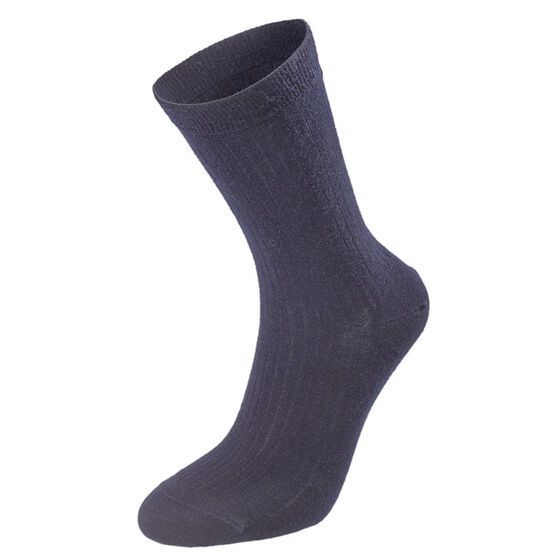 WOOL SOCKS Chick Navy Rib 2-17, chick navy rib 2-17, hi-res
