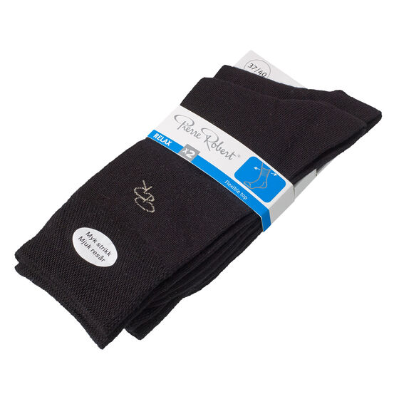 Relax-puuvillasukat 2-pack, black logo w, hi-res