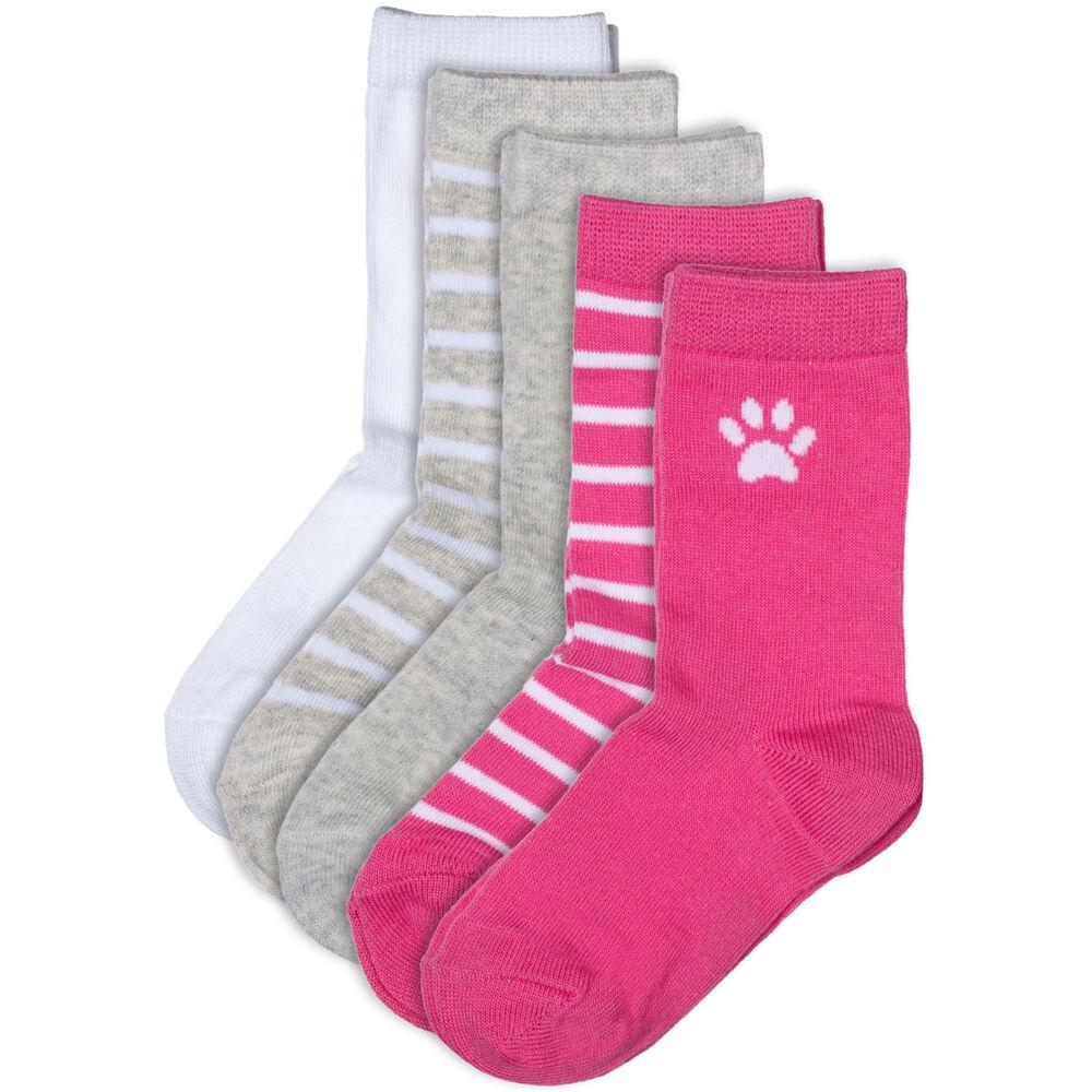 Sokker Barn Økologisk Bomull X5 Rosa Miks, pink mix, hi-res
