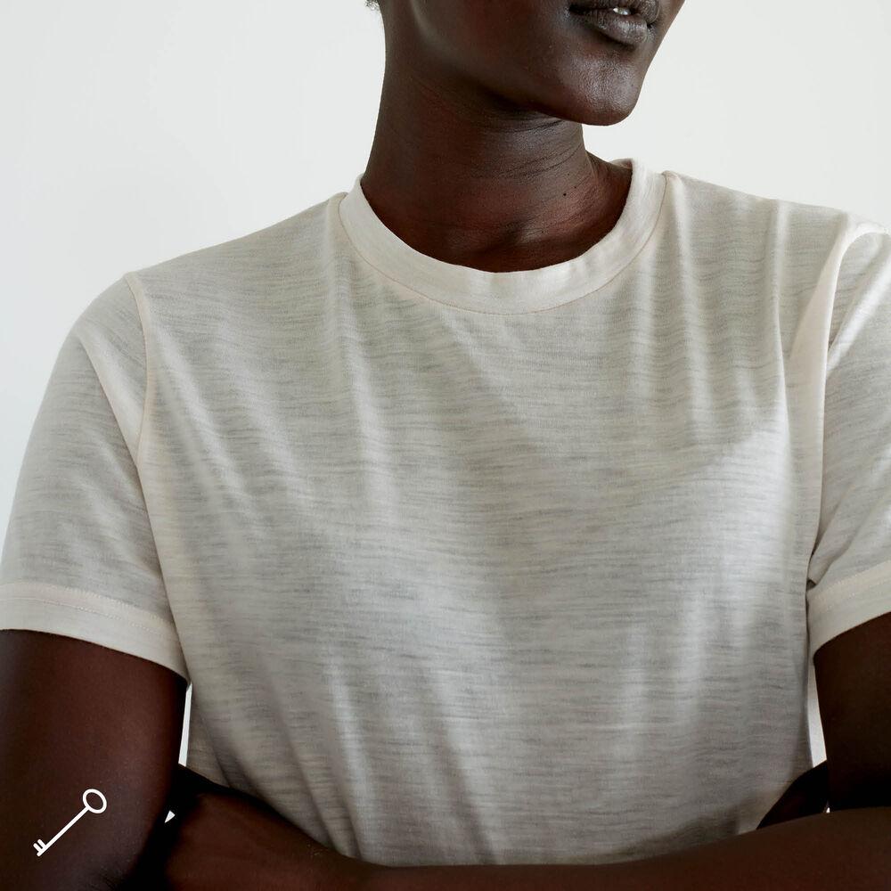 Løs T-skjorte Ull, white chalk, hi-res