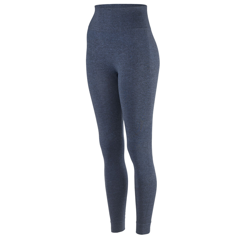SEAMLESS TIGHTS, blue melange, hi-res
