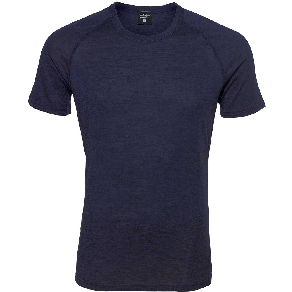 LIGHT WOOL T-SHIRT MEN, dark navy, hi-res