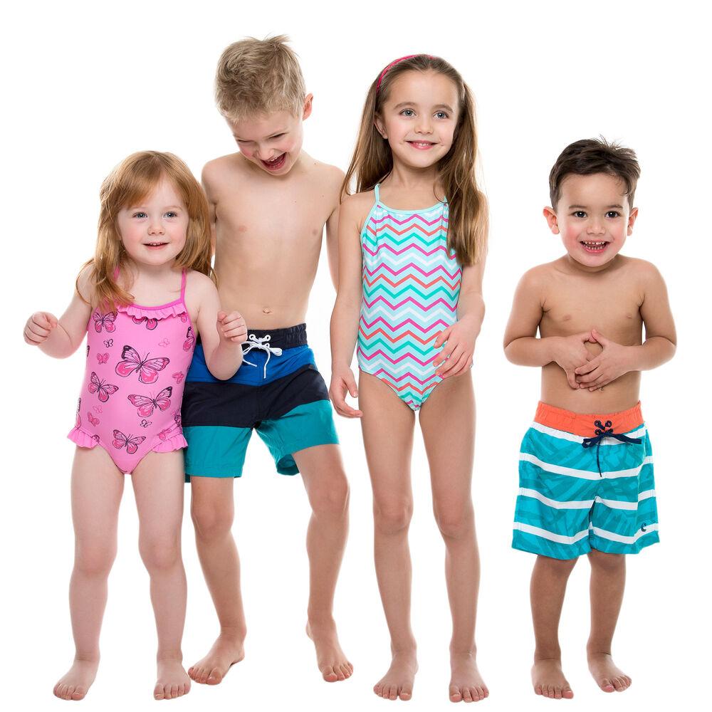 Badshorts till barn, tricolour ocean, hi-res