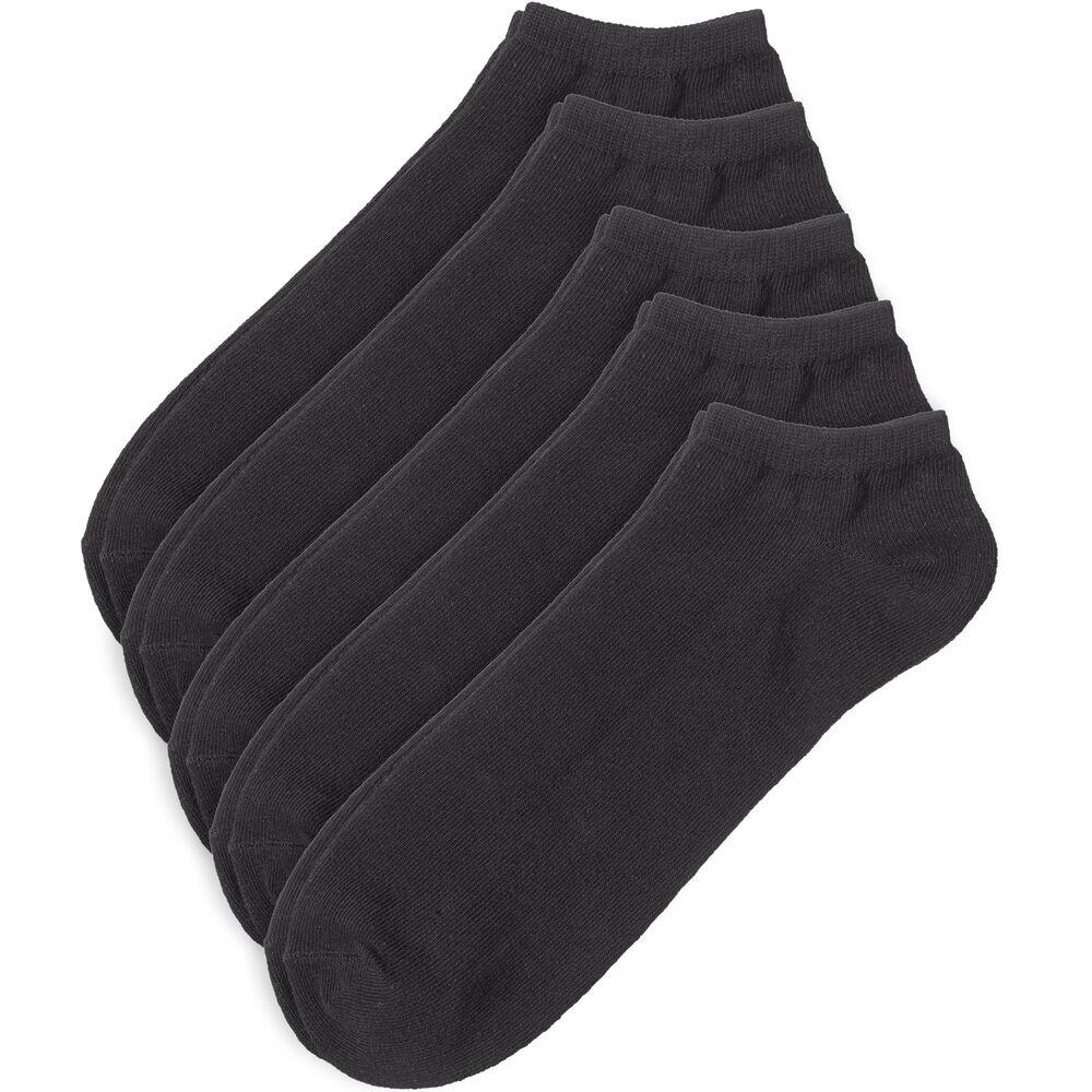Ankelstrumpor 5-pack 41-45, black, hi-res