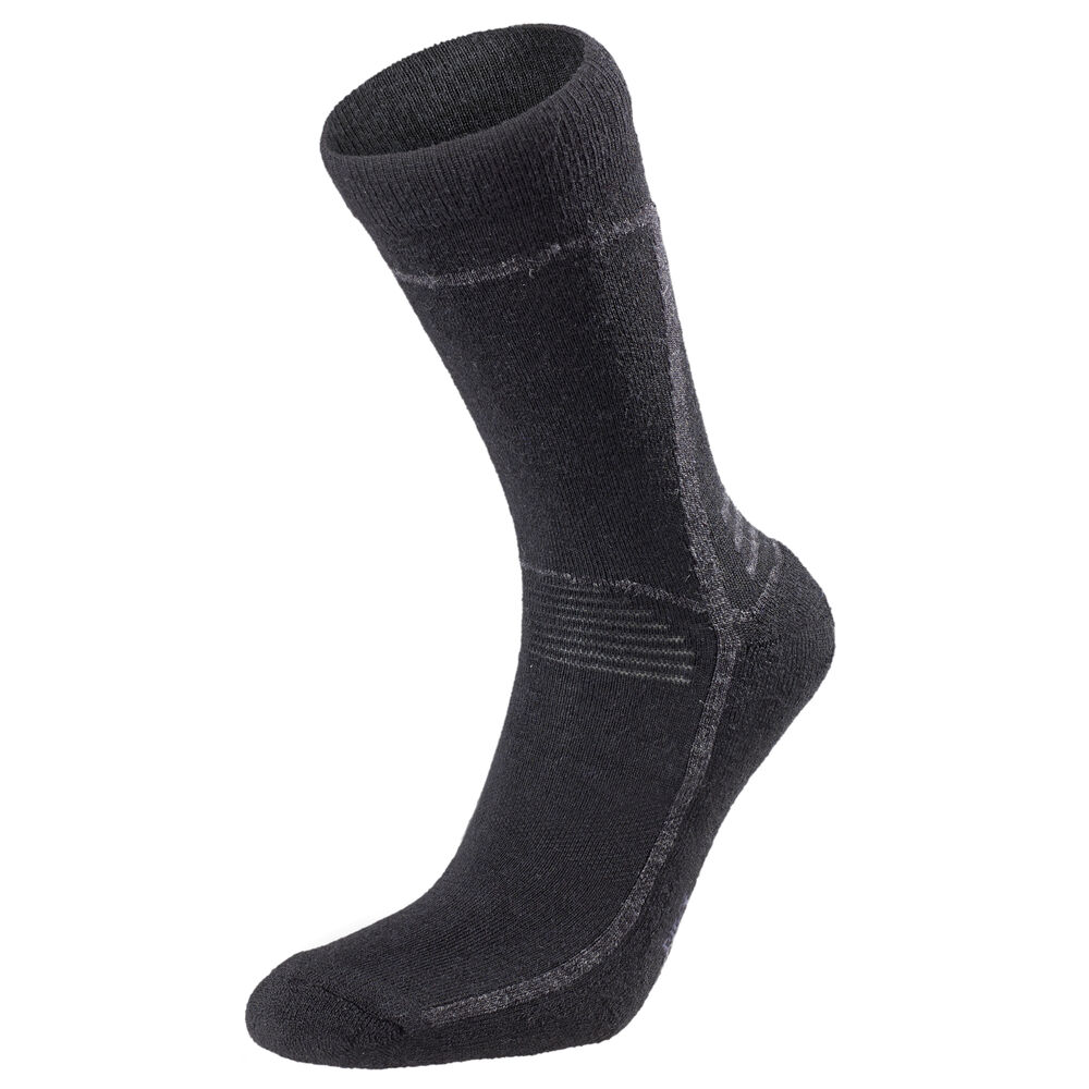 WOOL SPORT SOCKS Nearly Black Melange 2-17, nearly black melange 2-17, hi-res