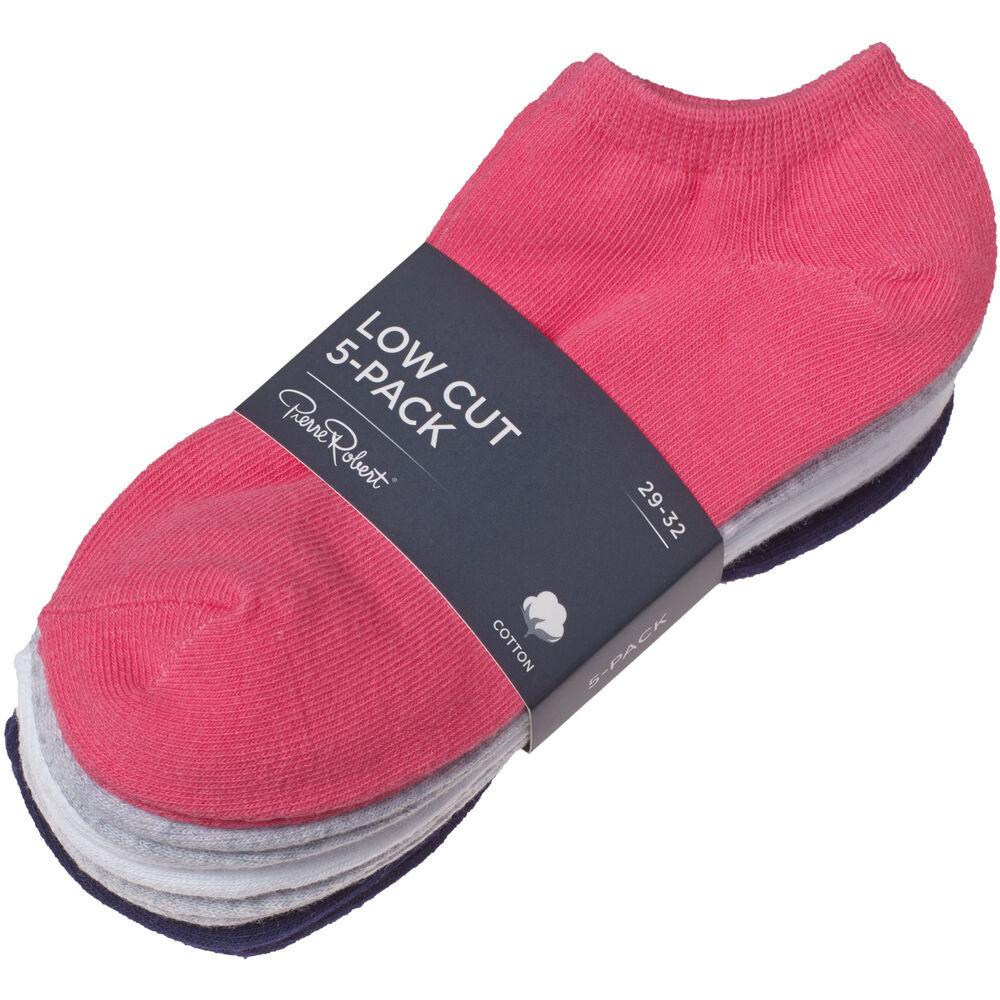 Ankelstrumpor barn 5-pack, pink, hi-res
