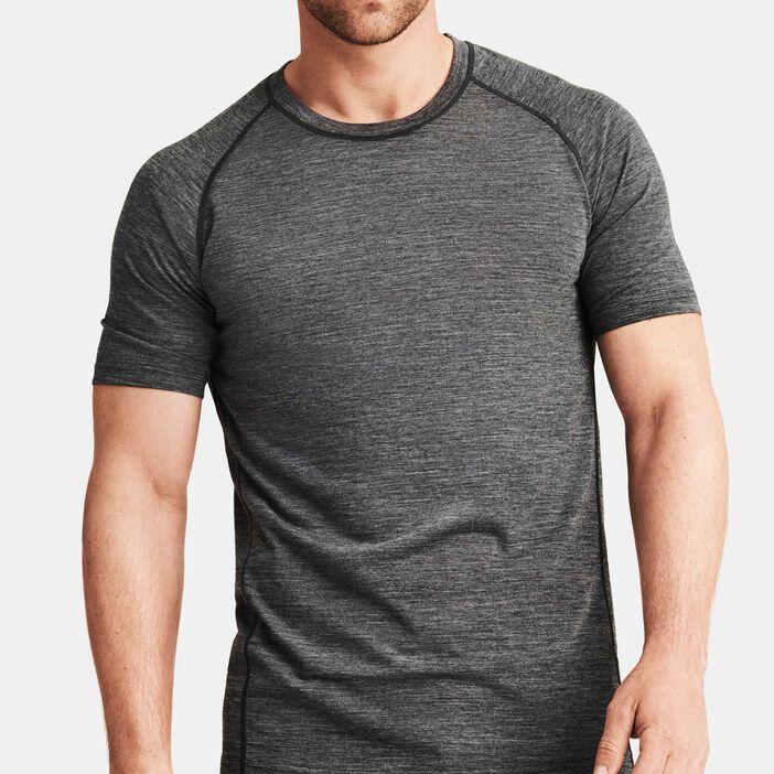 ed577d16 T-skjorte i tynn ull Herre Grå. 399,00 NOK. Treningsgenser Ull Sport Herre  Svart Melange