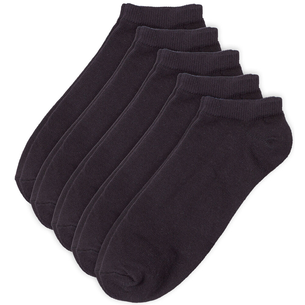 Ankelstrumpor 5-pack 37-40, black, hi-res