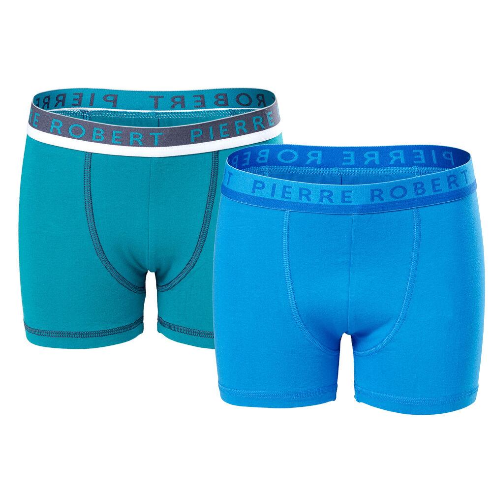 Boxer Økologisk Bomull Gutt Grønn & Blå, green & blue 2-17, hi-res