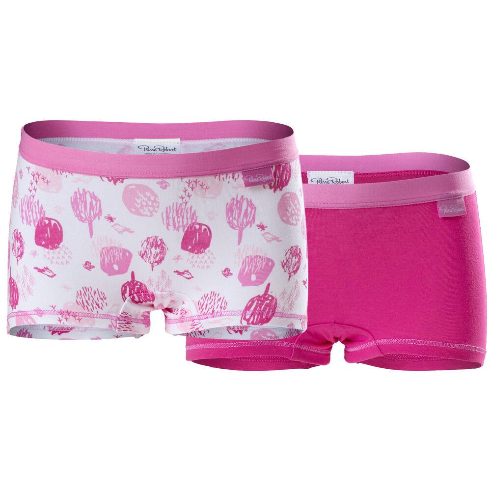 Boxer økologisk bomull jente Strong Pink, strong pink, hi-res