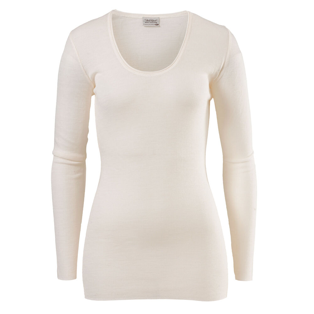 Langermet Topp Merinoull/Tencel®, winter white: 2-16, hi-res