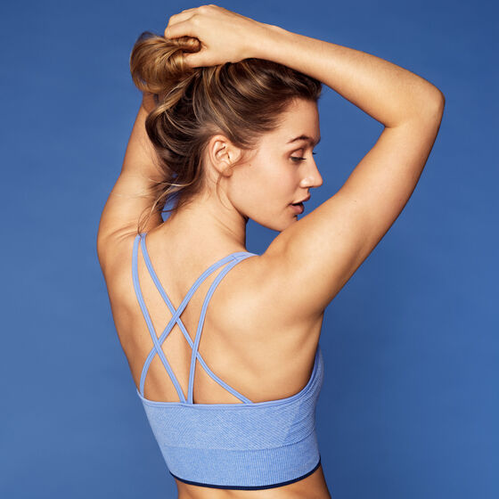 LIGHT SUPPORT BRA Blue Melange, blue melange, hi-res