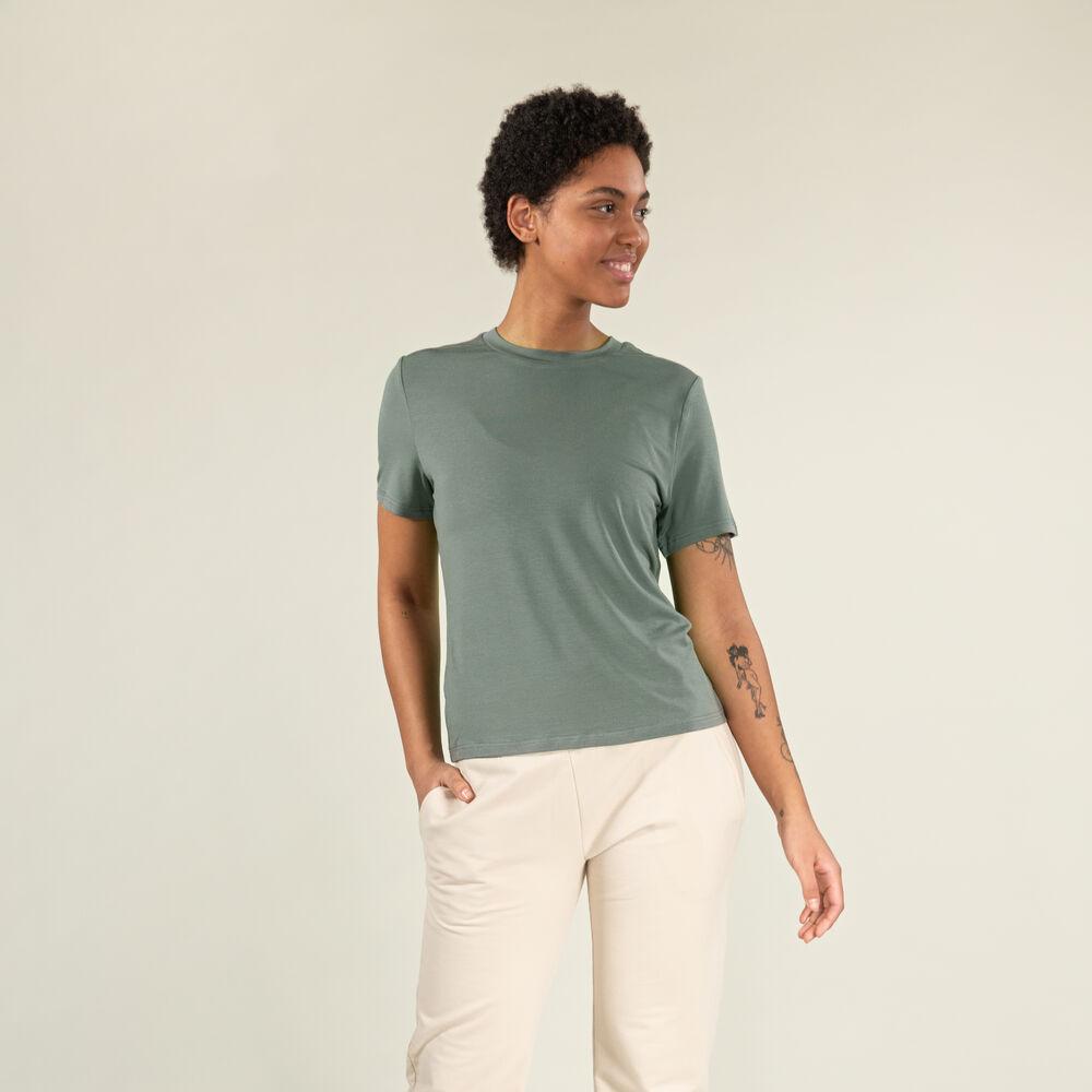 T-skjorte i Tencel™/Ull, grey-green, hi-res