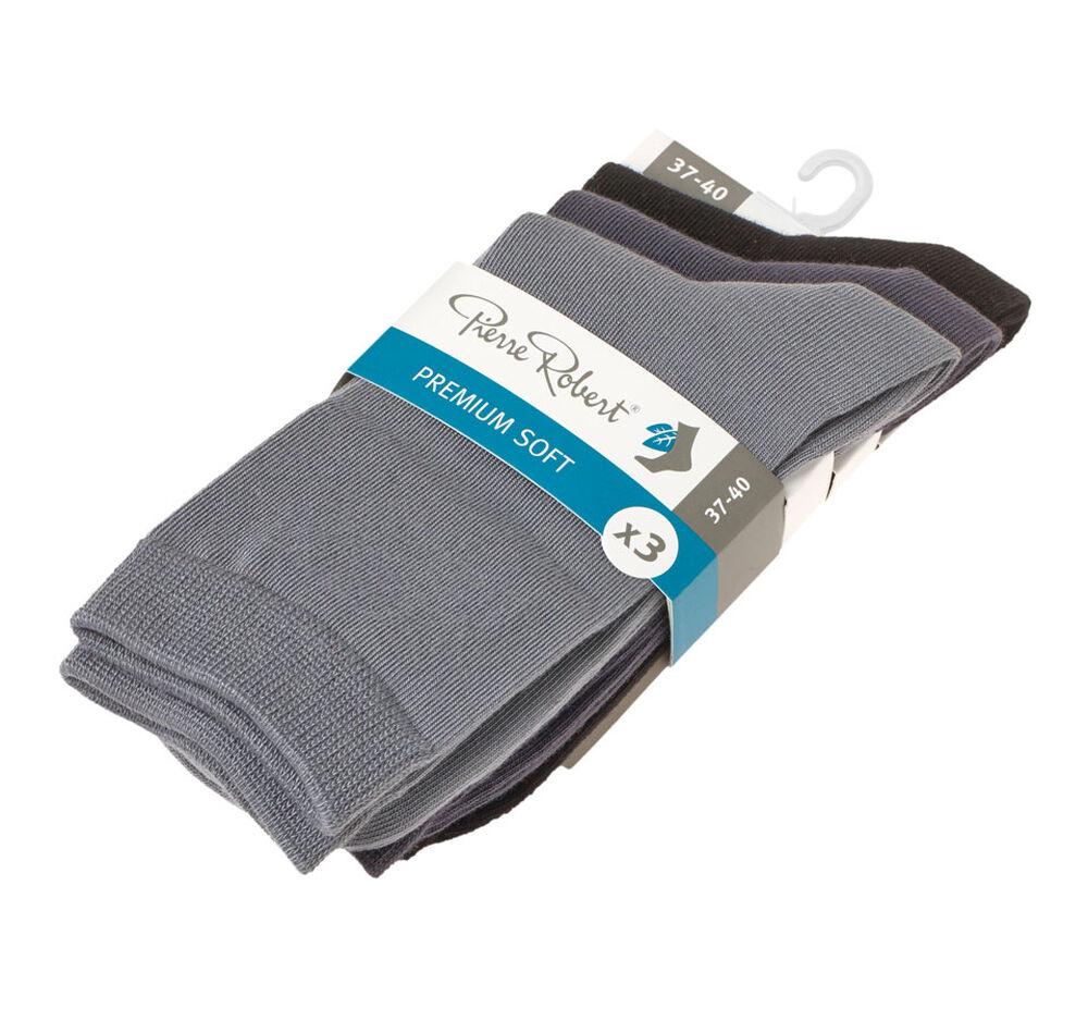 Sokker premium soft x3 37-40, black/dr grey/grey 2-17, hi-res