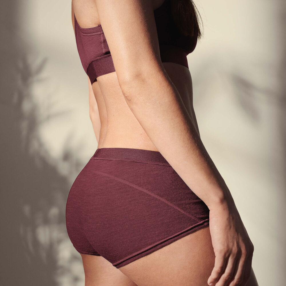 Ulltruse boxer, light burgundy, hi-res