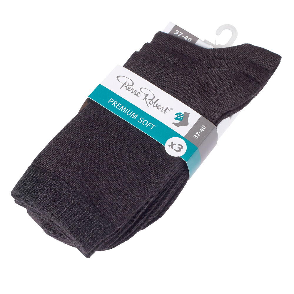 Sokker premium soft x 3 svart, sort, hi-res