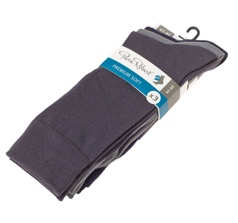 Strumpor premium soft 41-45, navy/grey/dark grey 2-17, hi-res