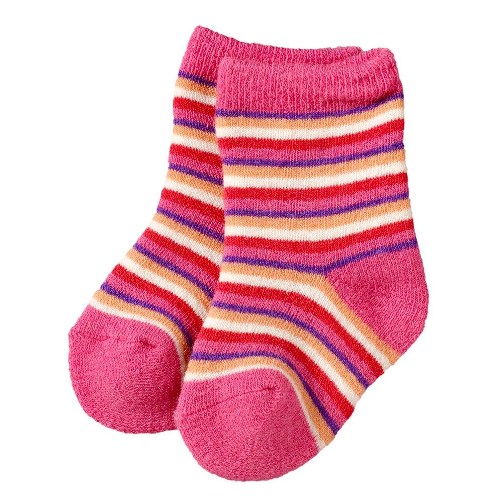 Ullsokker baby x2, pink-lilac, hi-res