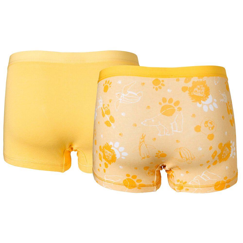 Trosor i ekologisk bomull 2-pack, yellow, hi-res