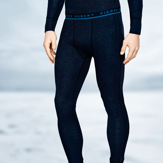 SPORT WOOL LONGS DARK NAVY, dark navy, hi-res