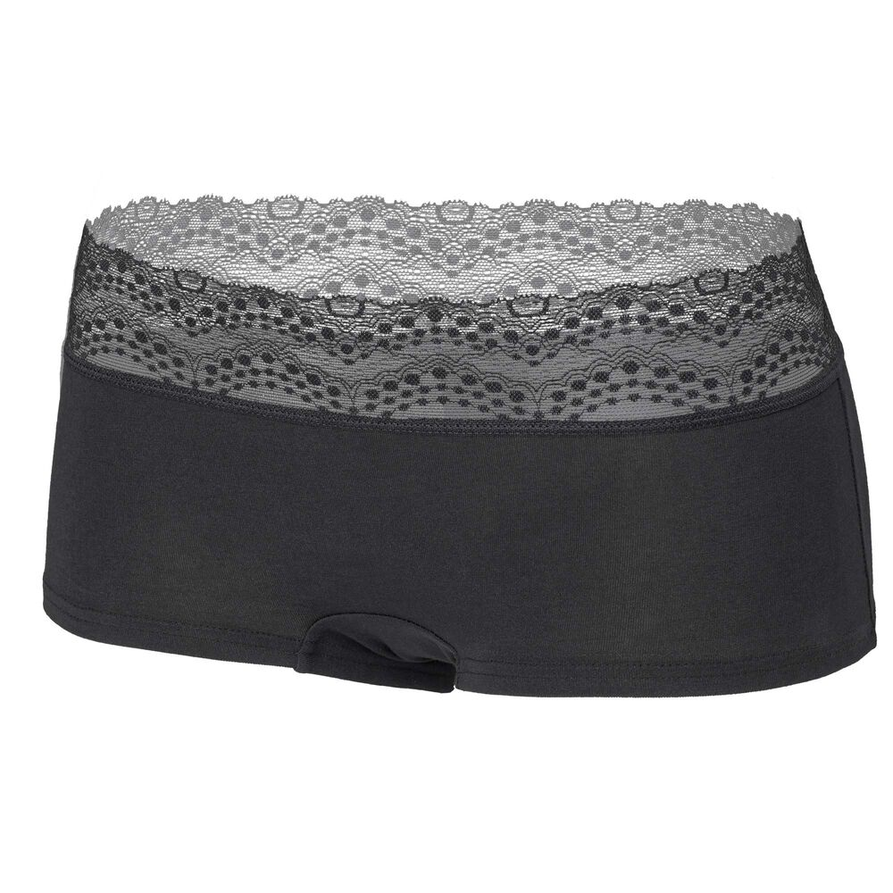 Cotton Boxer Lace (GOTS), black, hi-res