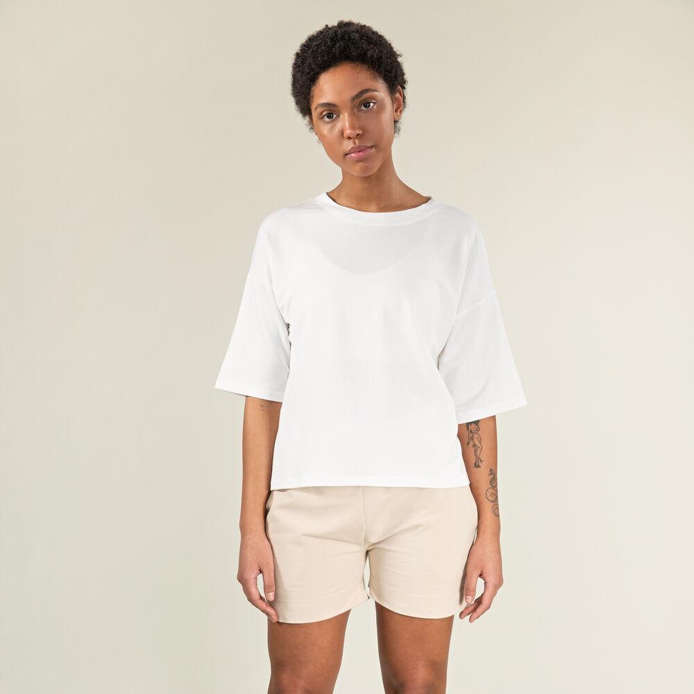 Oversized t-shirt, white, hi-res
