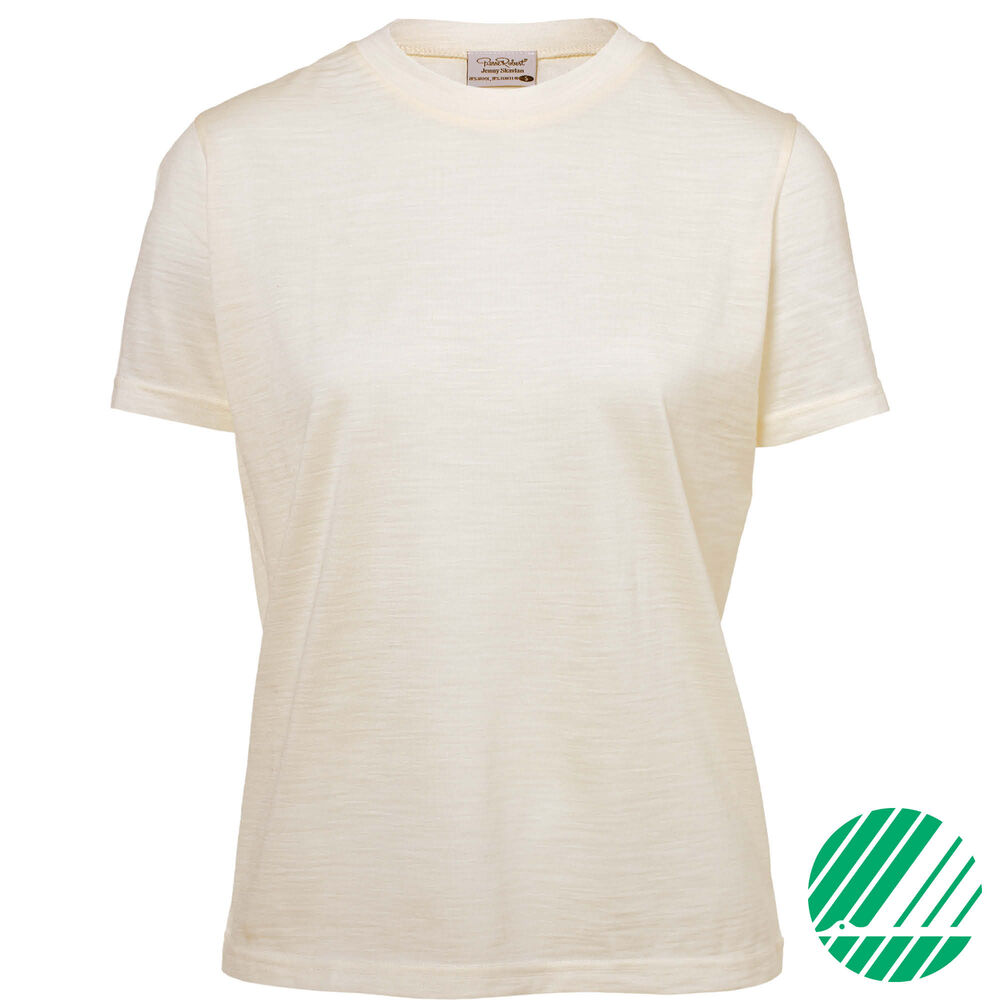 Loose fit t-shirt Jenny Skavlan, cream, hi-res