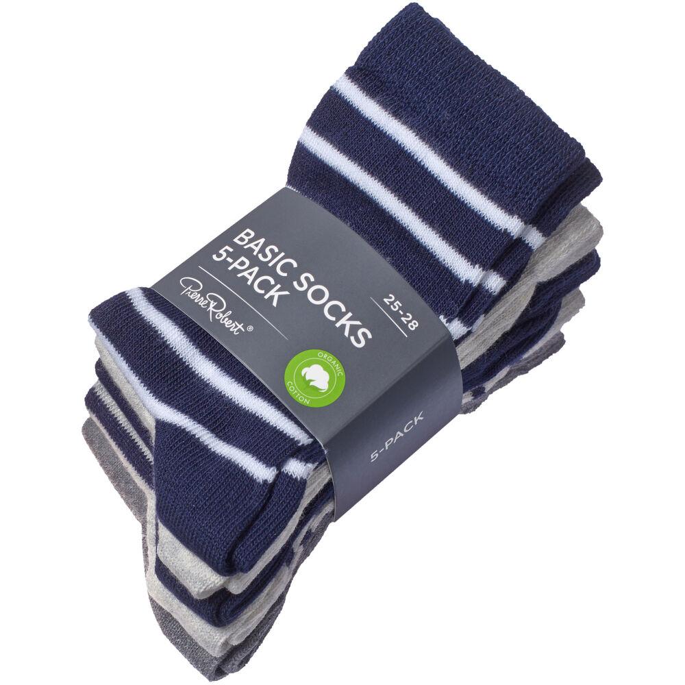 Sokker økologisk bomull 5-pack, , hi-res