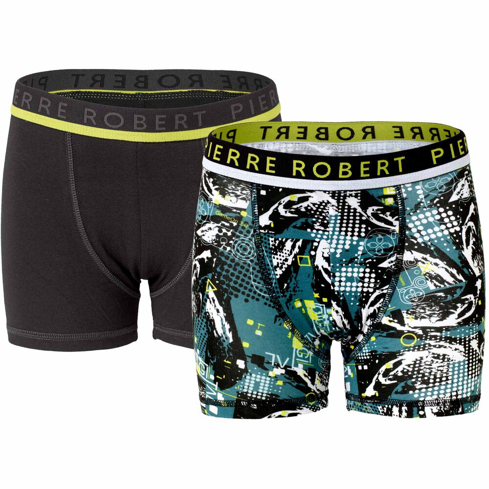 Boxershorts stor gutt, petrol/black, hi-res
